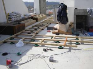 Montaggio parquet da esterno